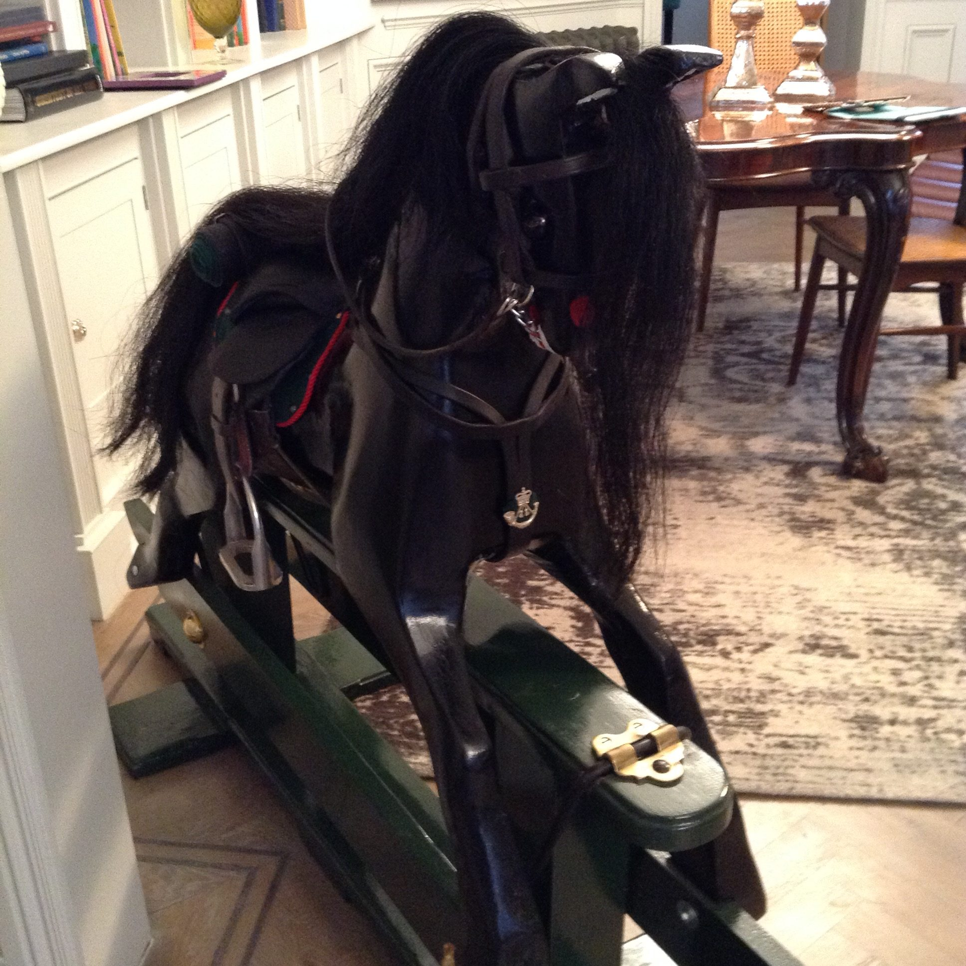 just rifles, rocking horse, hand-made, antique, charity, buy it now, british army, rifles